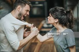 A bossy lady infringing on the right of her partner