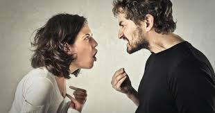 A jealous lady having an argument with her partner